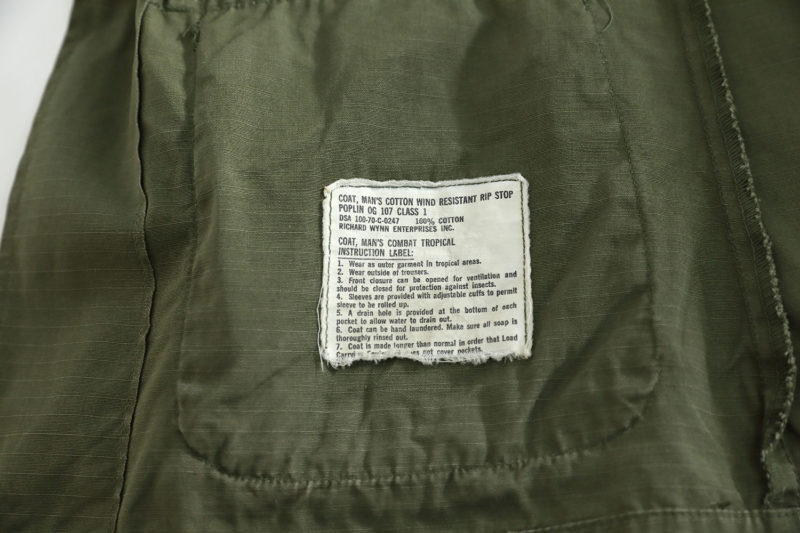 JUNGLE JACKET VIETNAM WAR