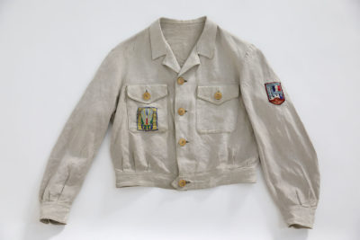"1941-1944 FRENCH LINEN ""CYCLISTE"" JACKET CHANTIERS DE JEUNESSE"