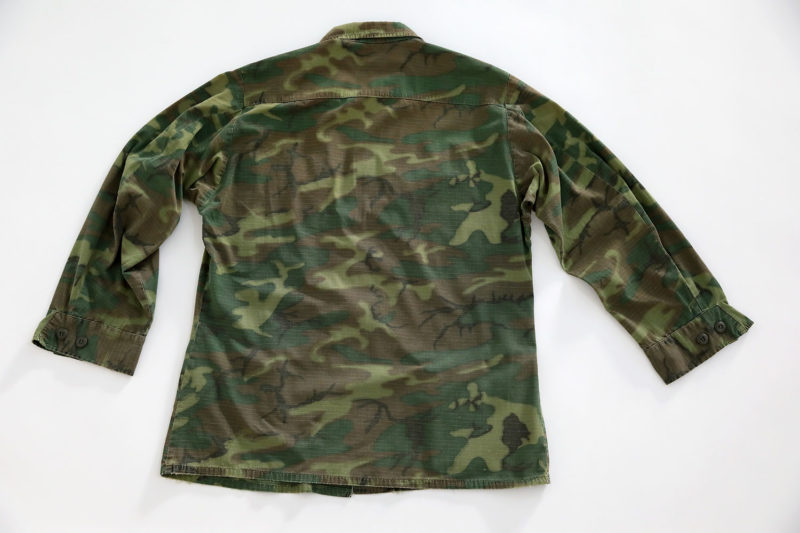 "ERDL JUNGLE JACKET VIETNAM WAR U.S.M.C ""P.I COLE"""