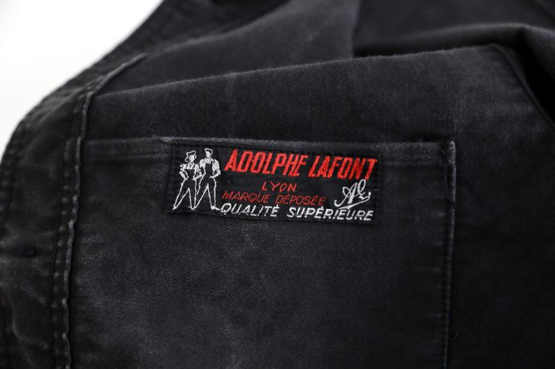 """1950's FRENCH BLACK MOLESKIN WORK JACKET """"ADOLPHE LAFONT"""""""