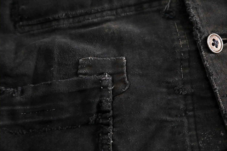 7486dd68d40 1950 s FRENCH BLACK MOLESKIN WORK JACKET