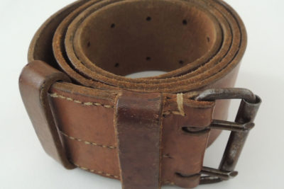 WW2 FRENCH ARMY LEATHER BELT 112cm