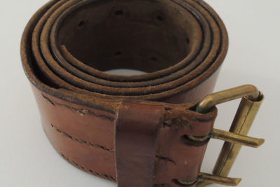 WW2 FRENCH ARMY LEATHER BELT 109cm