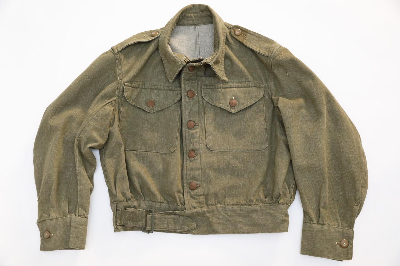 POST WW2 BRITISH ARMY DENIM BATTLEDRESS BLOUSE U-BOOT INSPIRATION